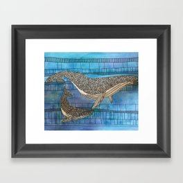 Two Whales Framed Art Print