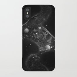 Starry kisses B&W. iPhone Case