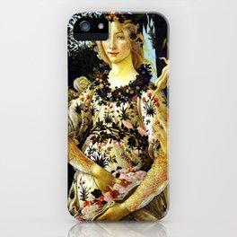 "Sandro Botticelli ""Spring"" Flora (1) iPhone Case"