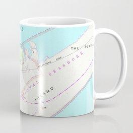 Vintage Map of Ocracoke North Carolina (1948) Coffee Mug