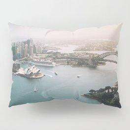 Sydney Opera House Harbour Bridge   Australia Aerial Travel Photography Pillow Sham