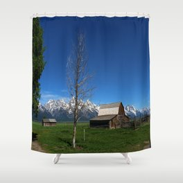 At The Mormon Row Shower Curtain