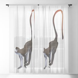 Schmidt's Red Tailed Monkey Sheer Curtain