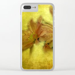 morning dew and grungy texture -3- Clear iPhone Case