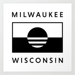 Milwaukee Wisconsin - White - People's Flag of Milwaukee Art Print