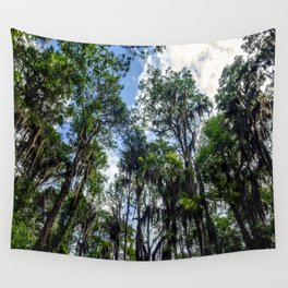 Swamp Trees with Moss Wall Tapestry