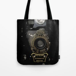 VINTAGE AUTOGRAPHIC BROWNIE FOLDING CAMERA Tote Bag