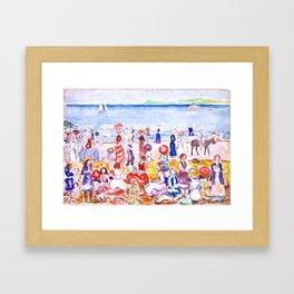 Revere Beach No. 2 by Maurice Prendergast - Belle Époque Watercolor Painting Framed Art Print