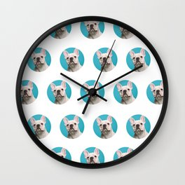 Pop Art Frenchie Wall Clock