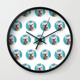 Pop Art Frenchie Wall Clock