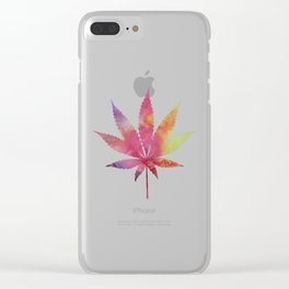 Cannabis leaf Clear iPhone Case