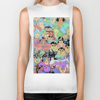 it crowd Biker Tanks featuring Crowd by Joseph Falzon