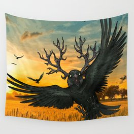 Malphas Halphas and the Murder of Crows Wall Tapestry