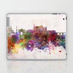 Cordoba skyline in watercolor background Laptop & iPad Skin