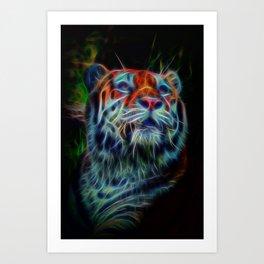 Neon Tiger Art Print