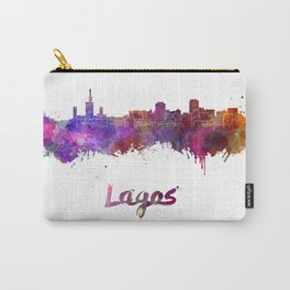 Lagos skyline in watercolor Carry-All Pouch