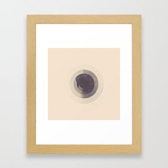 CIRCLES ON CIRCLES Framed Art Print