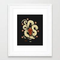 dbz Framed Art Prints featuring dbz by Louis Roskosch