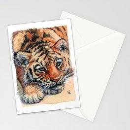 Resting Tiger Cub 896 Stationery Cards
