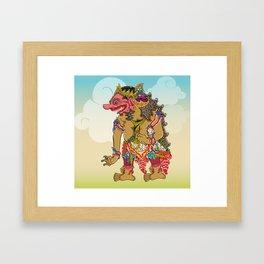 Kumbakarna character in Ramayana story Framed Art Print