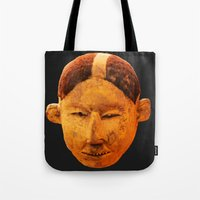 mask Tote Bags featuring MAsk by Sébastien BOUVIER