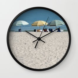 Bald Head Island Beach Umbrellas | Bald Head Island, North Carolina Wall Clock