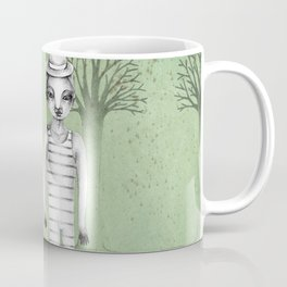 gymnast couple in the forest Coffee Mug