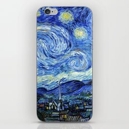 The Starry Night - Vincent van Gogh iPhone Skin