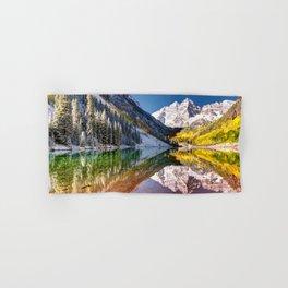Maroon Bells And Maroon Lake Near Aspen Colorado USA Hand & Bath Towel