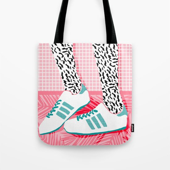 Aiight - sports fashion retro throwback style 1980s neon palm springs socal country club hipster Tote Bag