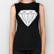 White diamond Biker Tank