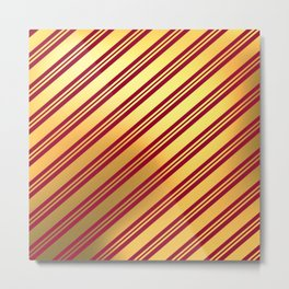 RED GOLD CHRISTMAS PATTERN 277 Metal Print