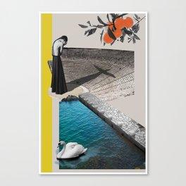 A Homeland souvenir #2: The theater, the swan & the oranges. Canvas Print