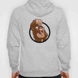 Angry gorilla cartoon Hoody