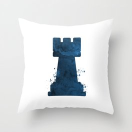 Chess Rook Throw Pillow