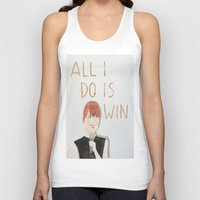 emma stone Tank Tops featuring All I do is win, Emma stone  by Thespanishlady