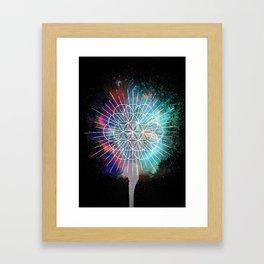 Flower Of Life Rainb-urst Framed Art Print