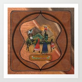 Traditional SA costume Art Print