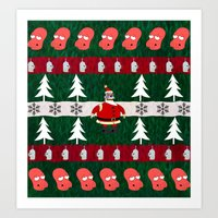 zoidberg Art Prints featuring Ugly X-Mas Sweater by fashionsforfans