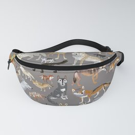 Wolves of the world 1 Fanny Pack