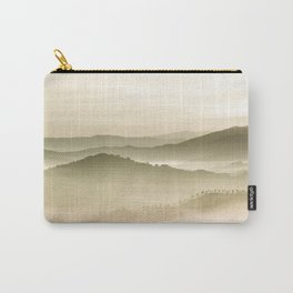 Pastel Blue Green Sepia Sunset Mountains layered parallax Landscape Minimalist Landscape Carry-All Pouch