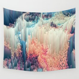 Fairyland - Abstract Glitchy Pixel Art Wall Tapestry