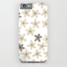 Grey and yellow flowers  Slim Case iPhone 6s