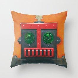 Robert the Robot Throw Pillow