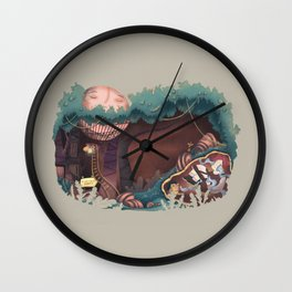 Insecurity forest Wall Clock