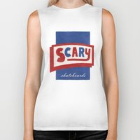 scary Biker Tanks featuring Scary by Lance Turner