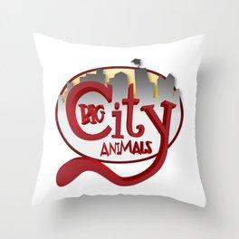 Big City Animals Throw Pillow