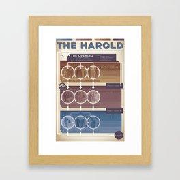Improv Forms: The Harold (warm tones) Framed Art Print