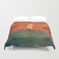 pirates Duvet Covers featuring Pirates  by CataBeja Umaña Azul
