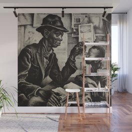 Classical Masterpiece 'The Instruction' by Thomas Hart Benton Wall Mural